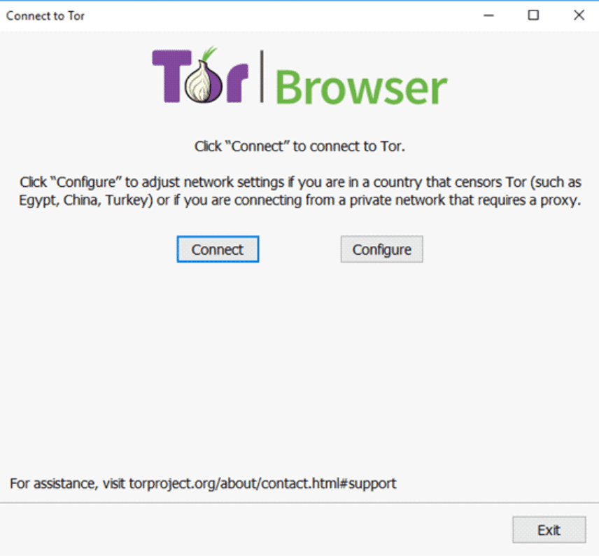 Tor Browser - Connect