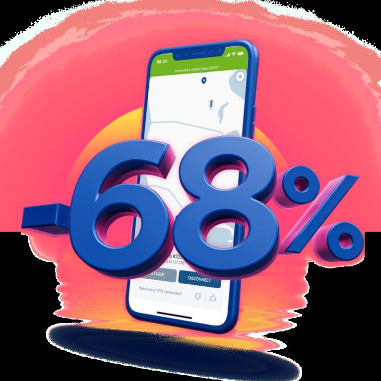 NordVPN minus 68%